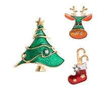 Cindy Xiang Leuke Verf Kerst Set Broches Voor Vrouwen Kleurrijke Kind Jurk Jas Rugzak Pins Verbazingwekkende Prijs