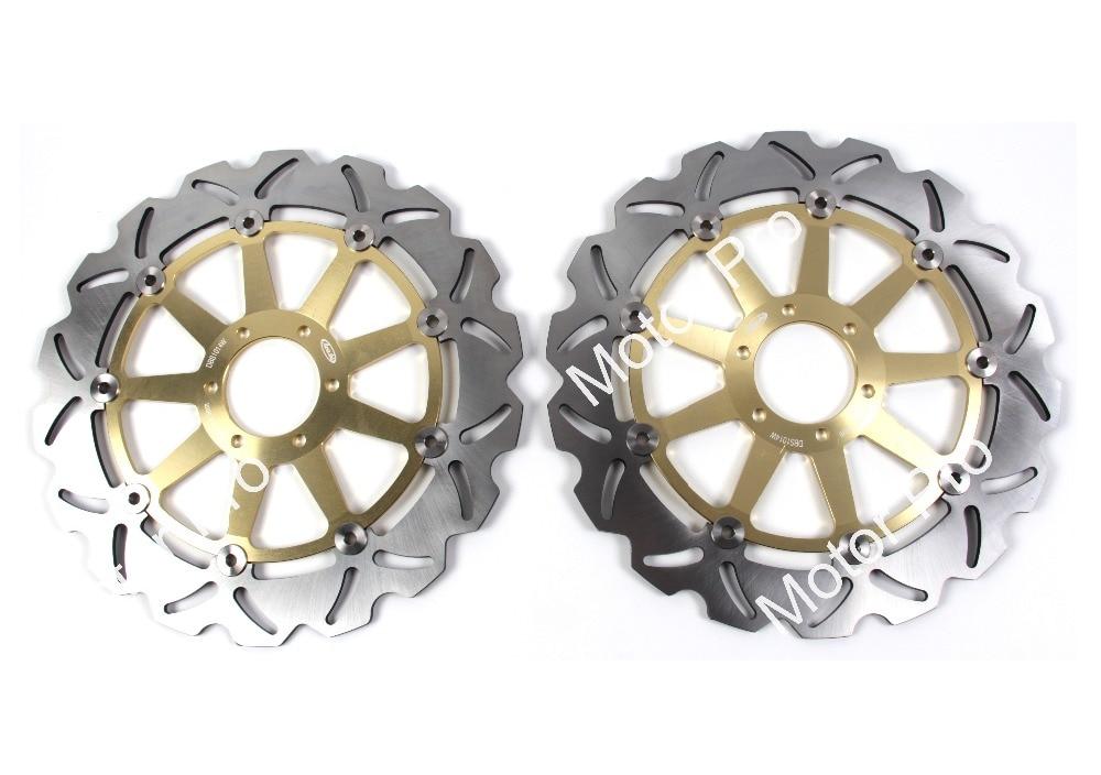 2 uds para DUCATI MONSTER 696, 2008, 2009, 2010, 2011, 2012, 2013, 2014 monstruo 696 ABS CNC flotante disco de freno delantero Rotor de disco de freno