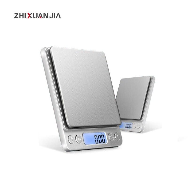 Balanza Digital de precisión 500g 1kg 3kg, báscula para laboratorio médico, báscula de bolsillo para joyería, báscula de cocina, báscula de peso electrónica