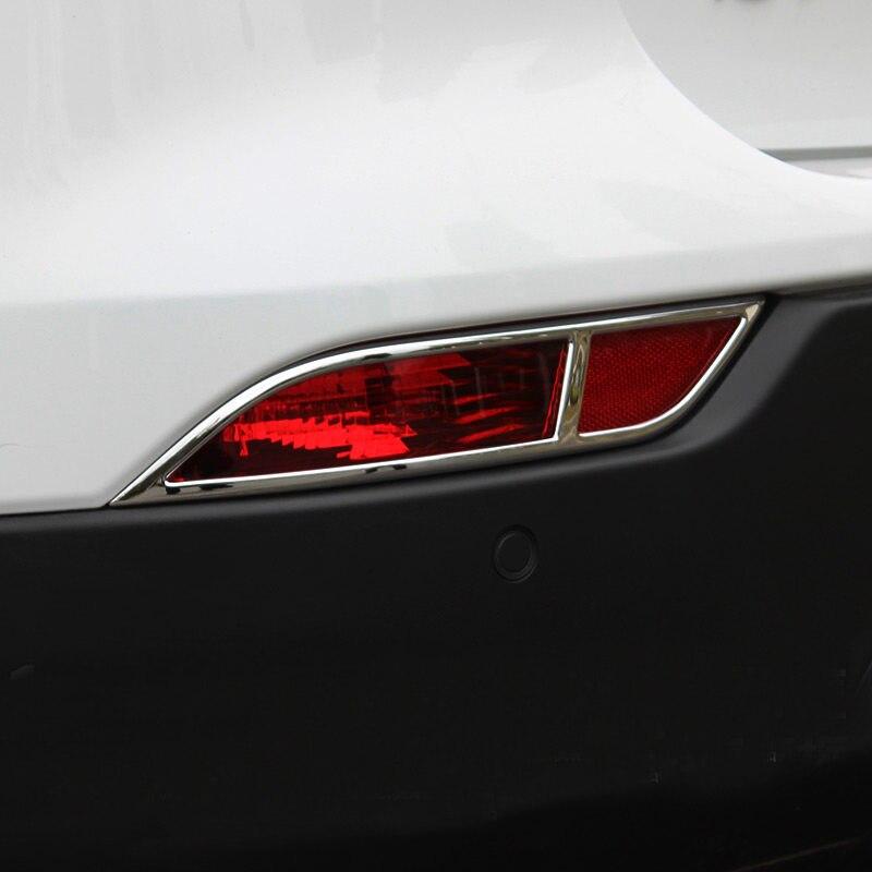 Accesorios de coche trasera Luz de niebla de la lámpara cubierta de la decoración. ribete 2 piezas ABS para Opel Mokka/ buick Encore 2016-2017
