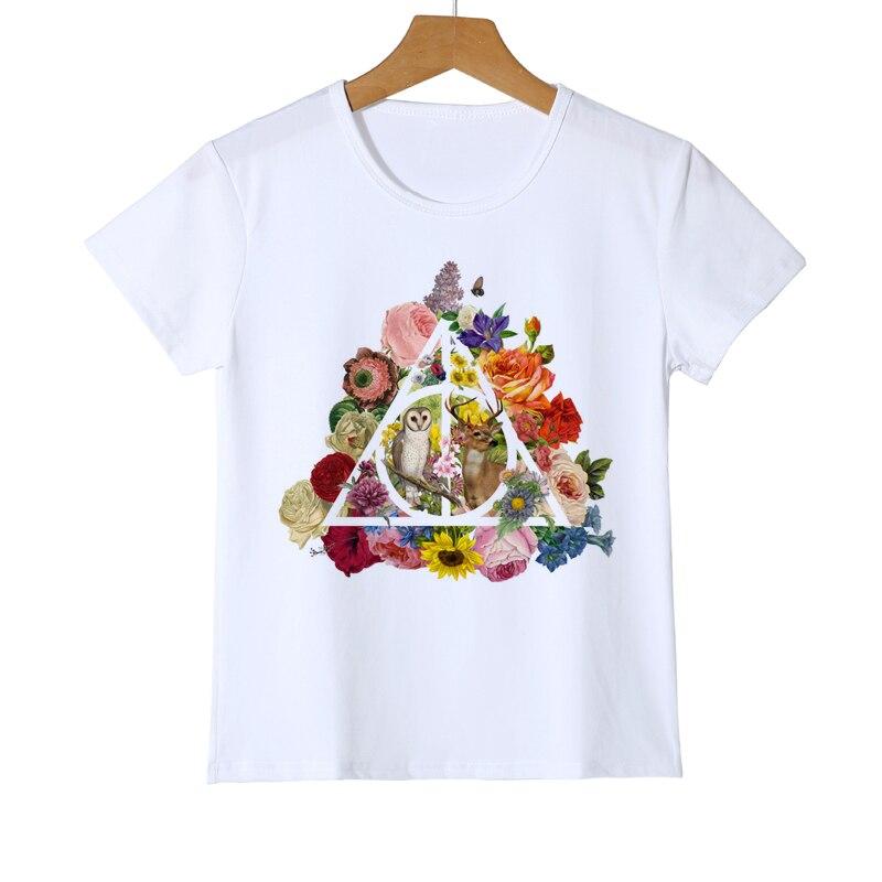 Camiseta moderna con diseño de búho en el dedo, novedosa pieza de arte de verano, diseño Linda caricatura colorida, búho, camiseta para niños, gran oferta, camisetas Z20-5
