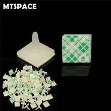 Mtspace 100 개/대 HC-5 나일론 플라스틱 스틱 pcb 스페이서 스탠드 오프 잠금 스냅인 포스트 고정 클립 접착제 3mm 구멍 지원