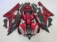 Kit de carpette de moulage par Injection pour Yamaha YZF R6 06 07   Rouge vin noir YZFR6 2006 FS04