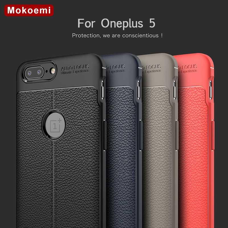 """Mokoemi moda Lichee wzór odporny na wstrząsy miękkie 5.5 """"dla Oneplus 5 przypadku dla Oneplus 5 telefon komórkowy skrzynki pokrywa"""