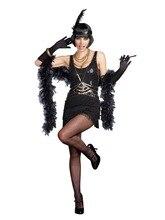 XXXL XXXXL grande taille vintage clapet 1920 s Gangster Gatsby Charleston Deluxe Sequin femmes Costume offres spéciales costume canival