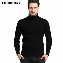COODRONY Winter Dicke Warme Kaschmir Pullover Männer Rollkragen Herren Pullover Slim Fit Pullover Männer Klassische Wolle Strickwaren Pull Homme