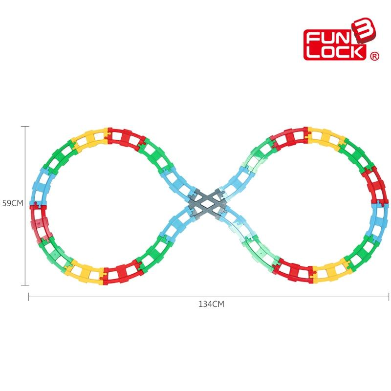 Funlock Duplo, 25 uds., juego de construcción de bloques de tren para niños, divertido y creativo, conjunto de ladrillos de ferrocarril, regalo para niños