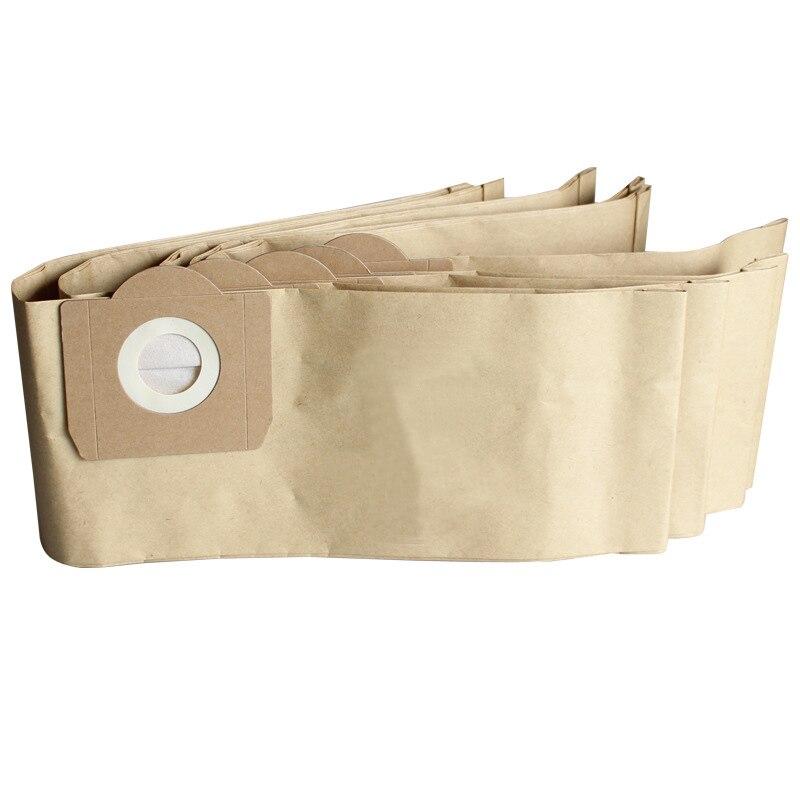 3x bolsa de papel limpiador con bolsa de papel para polvo para ROWENTA ZR81 ZR814 para Karcher A2700 Hoover H31 S6145 19L pieza de aspiradora