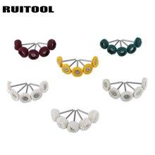 30 pièces/ensemble meules de polissage laine/coton/tissu tampon de polissage bijoux brosse Abrasive accessoires Dremel pour outils rotatifs
