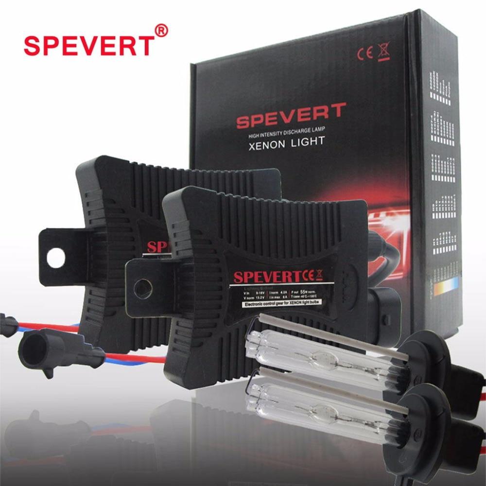 SPEVERT 55W Bi X-W pipers cove światła H1 H3 H7 H4/9003 H11 9005/6 H27 ksenonowe zestaw hid żarówki statecznik typu slim 6000K 8000K 12V samochód światło główne
