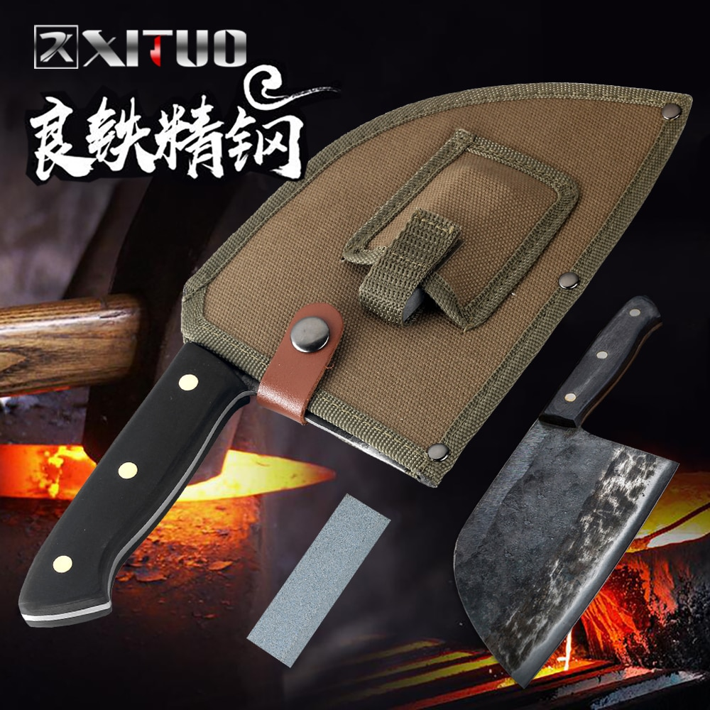 XITUO нож ручной работы кухонный нож для кемпинга охотничий нож для мясника Nakiri Gyuto измельчитель нож для нарезки мяса шеф-повара антипригарный
