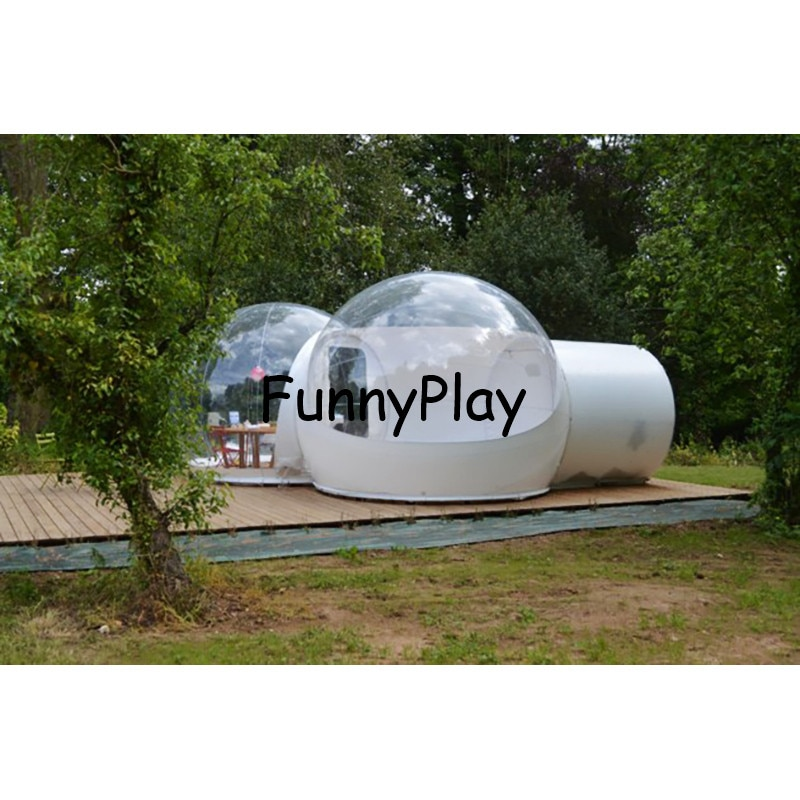 inflatable bubble camping tent,hot sale inflatable half transparent tent,inflatable projection tents,family picnic bubble house