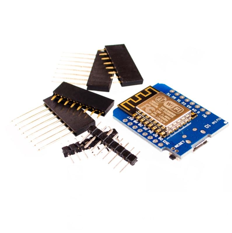 10 مجموعات D1 mini-NodeMcu 4M bytes Lua WIFI لوحة تطوير إنترنت الأشياء ESP8266 من WeMo