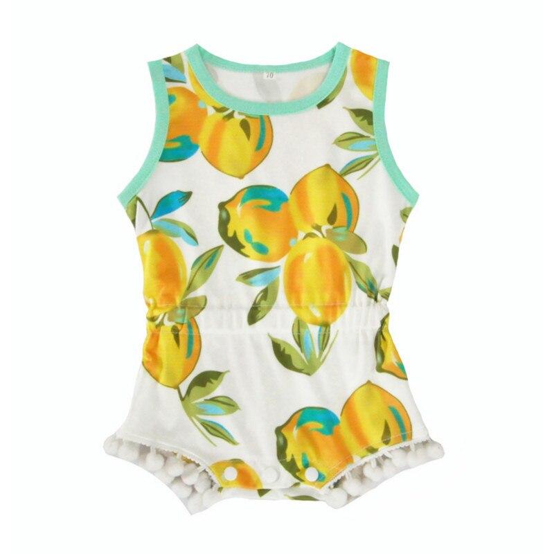Ropa de bebé monos de bola de limón niños niñas Europa y América verano ropa de bebé de dibujos animados niños ropa de escalada de moda