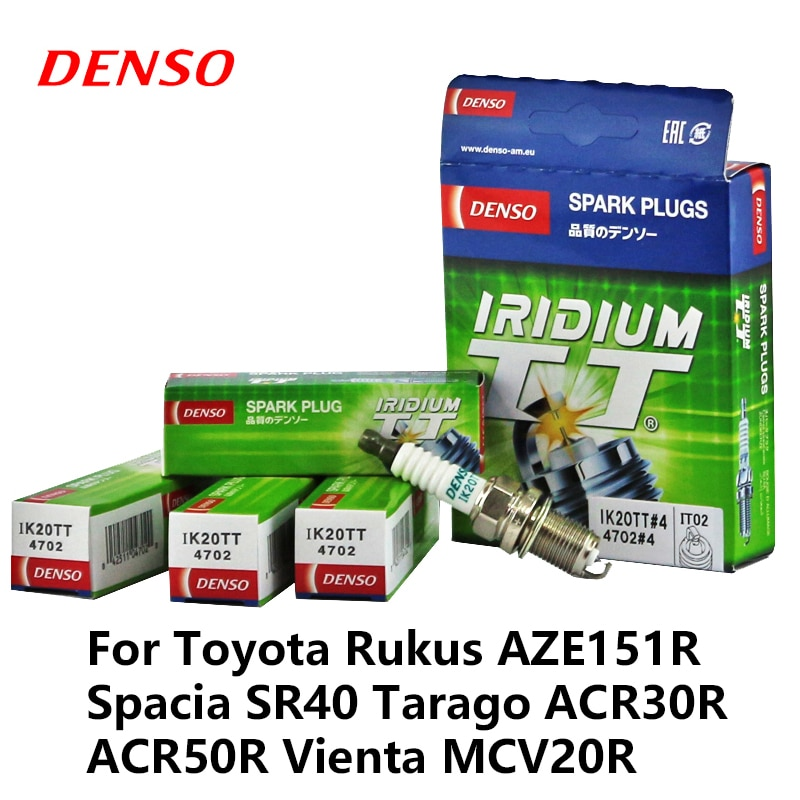 DENSO bujía de coche para Toyota Rukus AZE151R Spacia SR40 Tarago ACR30R ACR50R Vienta MCV20R iridio Platinum IK20TT