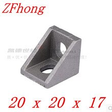 50pcs 100pcs 2020 bracket 20mm x 20mm Aluminum Profile Corner Fitting Angle for 2020 aluminum profile