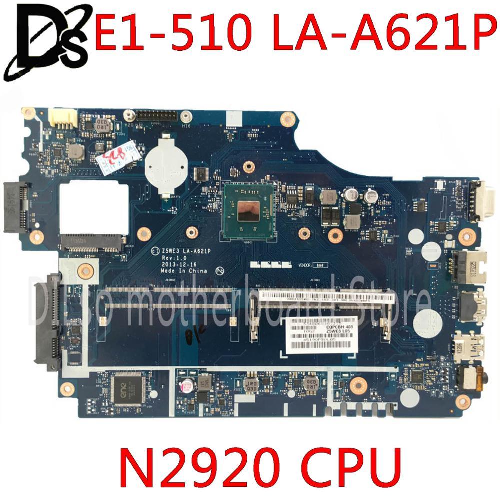 KEFU Z5WE3 LA-A621P placa base para Acer aspire E1-510 E1-510G E1-510-2500 placa base de computadora portátil N2920 CPU pruebas 100% original