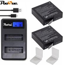 2x Xiaoyi Yi 4 k batteria Per Xiaomi Yi 2 4 k AZ16-1 1400 mah bateria + USB Caricatore Doppio per Xiaomi yi 4 k yi II Action macchina fotografica di Sport