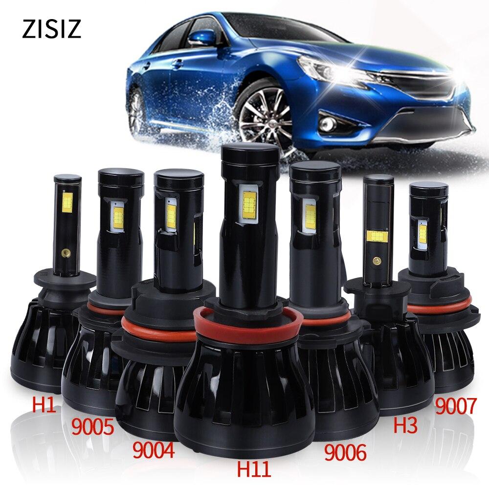 H1 led de la linterna del coche COB Chip Led H3 H11 H8 H9 9005 HB3 H10 9006 HB4 9007 de 9004 bulbos de la lámpara accesorios de automóvil 6000k Canbus 12V