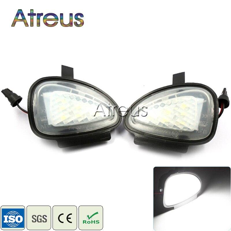 Atreus Auto LED Unter Seite Spiegel Lichter 12V Für Volkswagen VW GTi Golf MK 6 09- Touran Cabriolet zubehör Weiß SMD LED Lampe