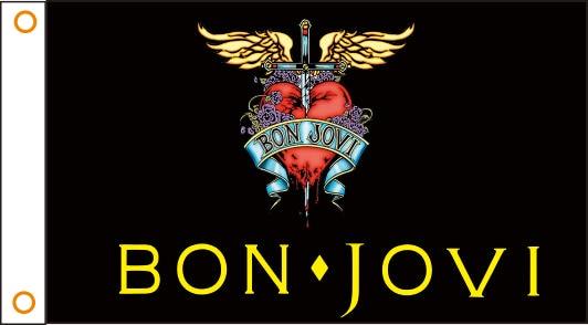 Bandeira Bon_Jov Banda bandeira Personalizada 3x5 Ft 90x150 cm 100% Poliéster 05