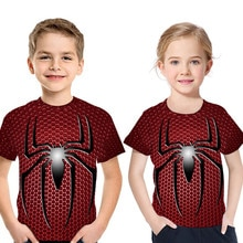 Spiderman Switchable lentejuelas niños Camisetas Niño moda Marvel héroe camiseta niños Top ropa verano