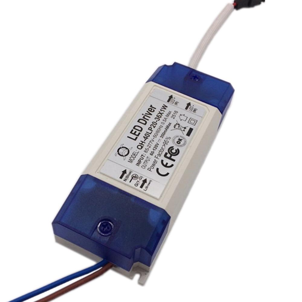 10 unidades 20W 30W 40W LED Driver 20-36x1W 350mA DC60-120V fuente de alimentación LED de alta potencia para reflector