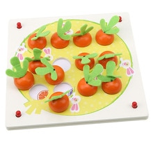 Puzzle en bois 3D Tangram Puzzle début carotte mémoire jeu déchecs 3D Puzzle bois jouets pour enfants
