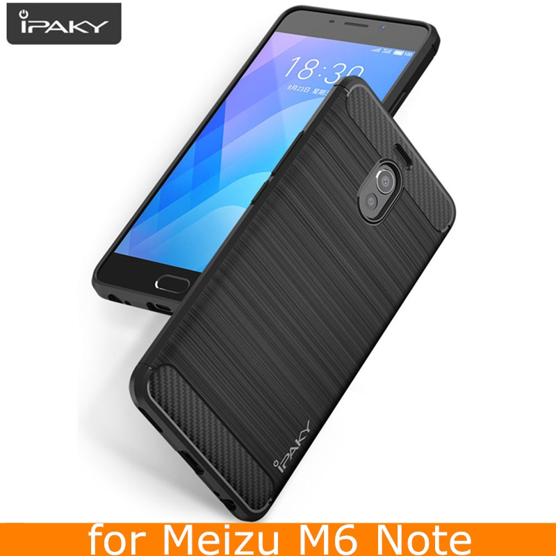 Funda Original para Meizu M6 Note, funda protectora híbrida de fibra de carbono de silicona IPAKY para Meizu M6 Note, funda