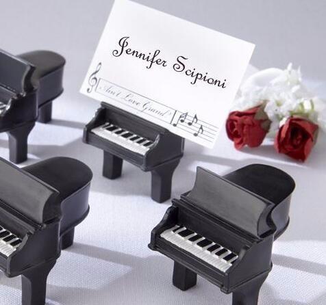 حامل بطاقة البيانو الأسود ، موضوع الموسيقى ، هدية الزفاف ، الحدث ، لوازم الحفلات