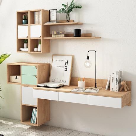 Escritorio de la computadora de oficina mesa de casa de mesa para laptop de madera mesa de estudio mesa escritorio Oficina escritorio montado en la pared de escritorio soporte para ordenador portátil