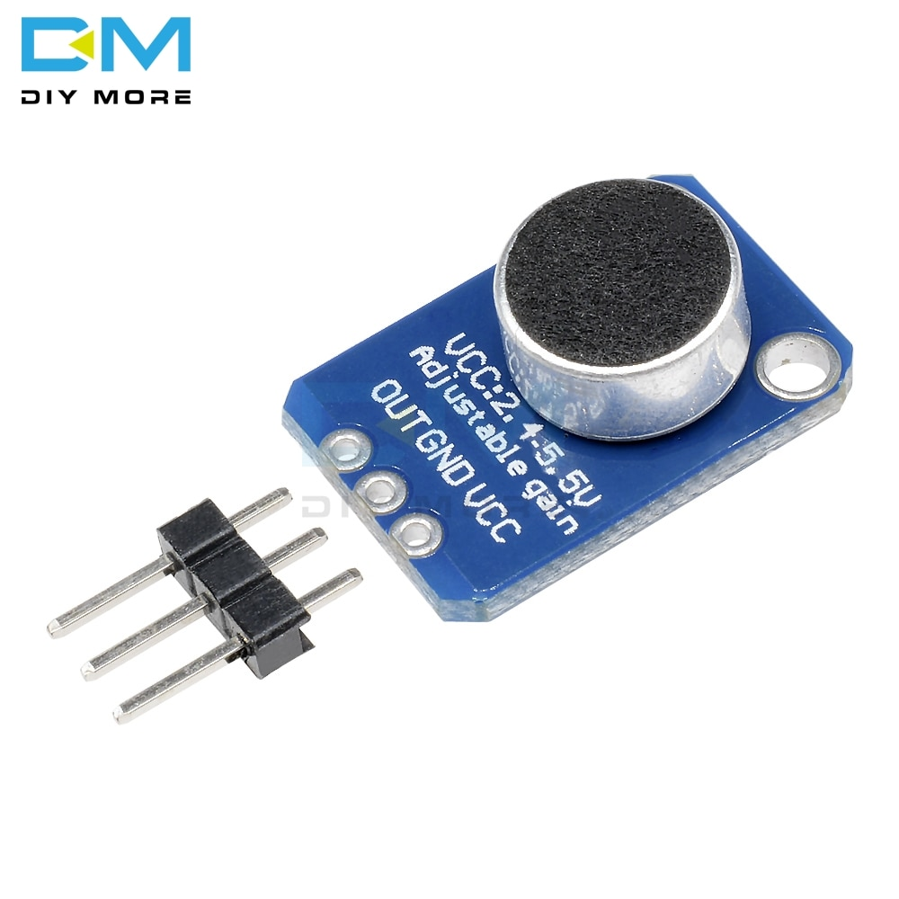 Новейший электретный усилитель микрофона MAX4466 модуль с регулируемым коэффициентом усиления для Arduino с контактами