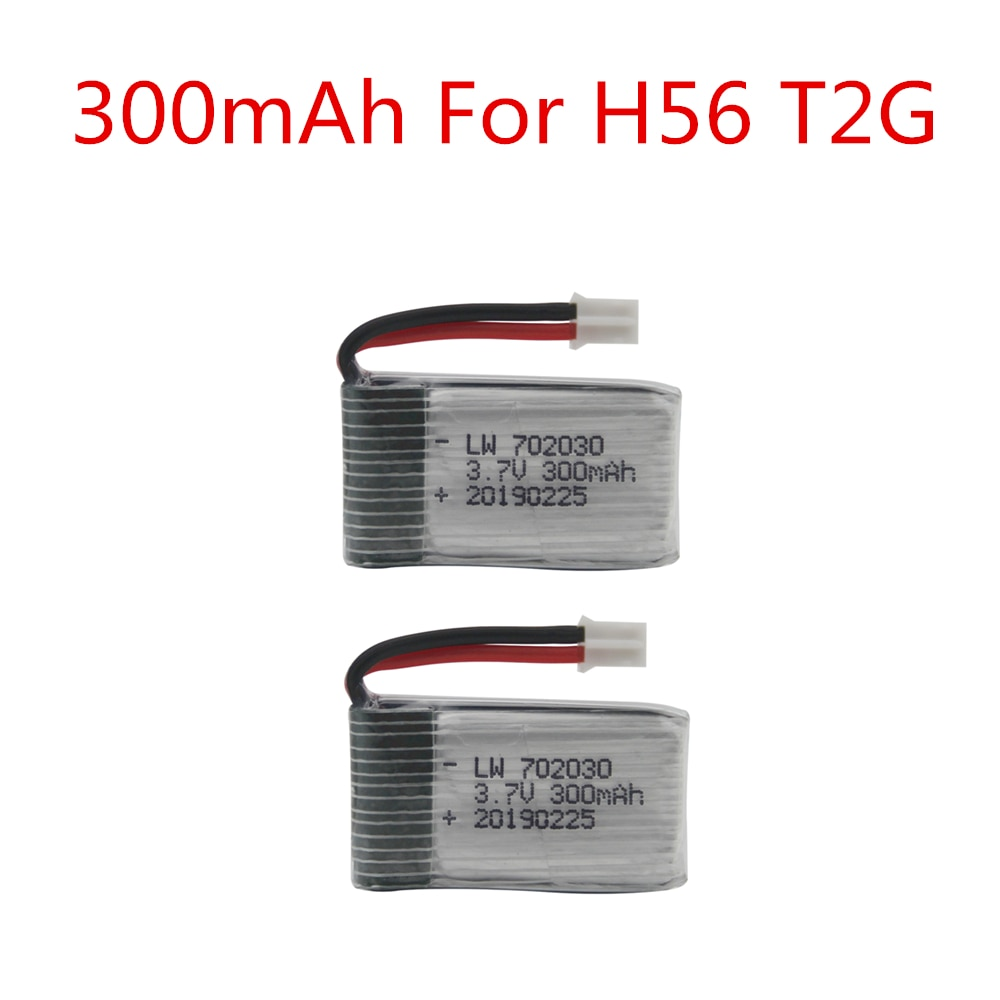 Lipo Battery For H56 3.7V 300mAh For H56 T2G Drone Battery RC Quadcopter Spare Part Lipo Battery 5pc