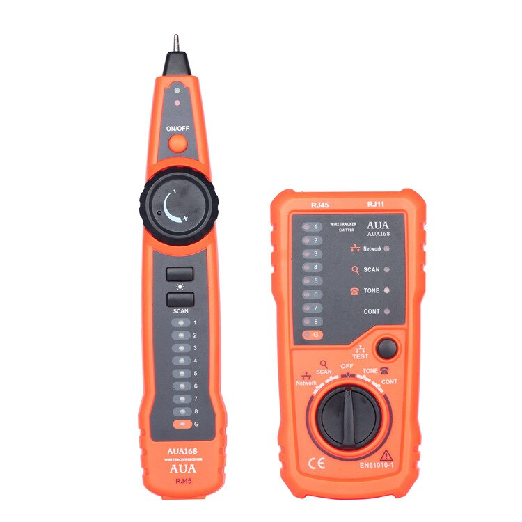 RJ11 RJ45 CAT5E 6 Wire Tester Tracker Multi-functional Handheld Line Finder Cable Testing Tool for Network Maintenance randomly
