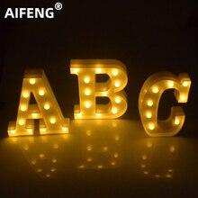 AIFENG DIY 26 Engels Brief LED Nachtlampje 3D Marquee Teken Alfabet Muur Opknoping Bruiloft Verjaardagsfeestje Kerst Decor