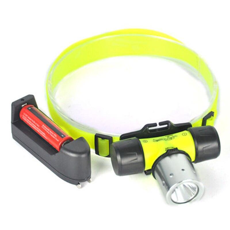 Linterna frontal LED de buceo profesional recargable linterna subacuática impermeable 2000 lúmenes CREE XML T6 antorcha de cabeza