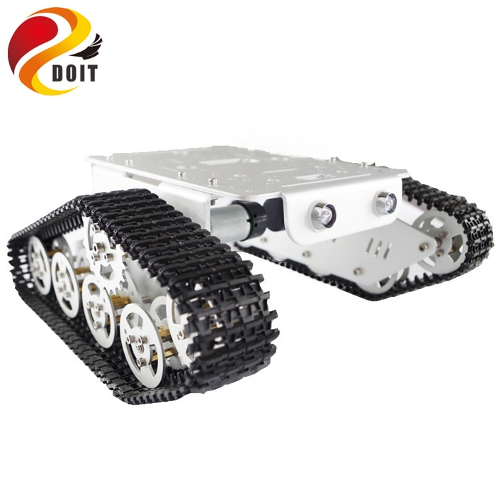 T300 RC Metal Robot Tank Car Chassis Crawler for arduino Tracked Caterpillar Track Chain Vehicle Platform Tractor Toy kit enlarge