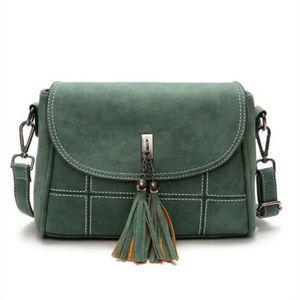 Green Women Messenger Bags 2020 Tassel Small Pu Leather Crossbody Bags For Women tassel Crossbody Bags Shoulder Bags L9-141