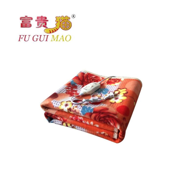 فوغيماو-بطانية كهربائية 220 فولت ، تدفئة ، سرير ، تدفئة ، بطانية حرارية ، 150 × 70 سنتيمتر