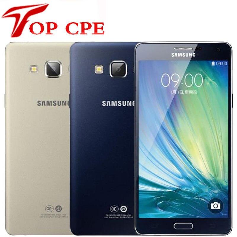 Original Samsung Galaxy A7 DOUS A7000 Octa Core A7( 2015) 5,5 pulgadas 16GB ROM 13.0MP tarjeta Dual Sim 1080P WIFI desbloqueado teléfono inteligente