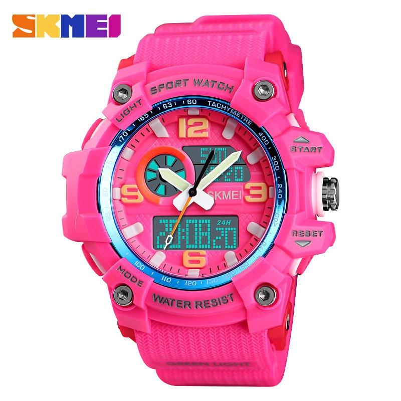 2019 Sports Watch Men Women Clock Fashion Dual Display Digital Wristwatch Outdoor 3 time Ladies Waterproof Watches Reloj SKMEI enlarge