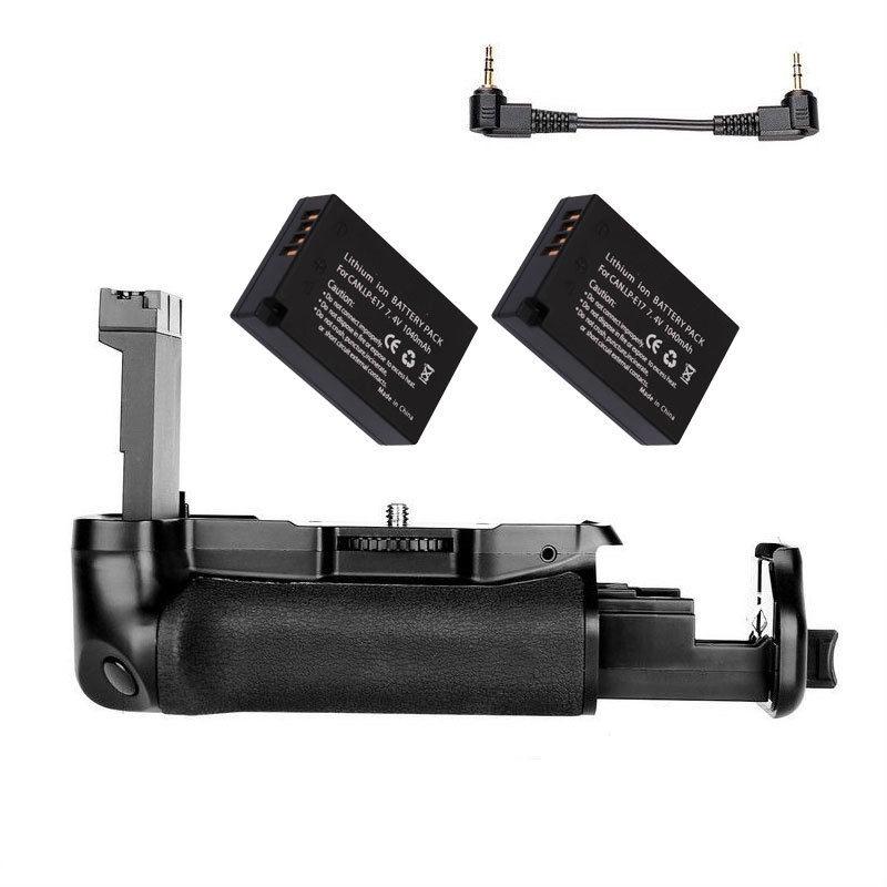 JINTU DSLR كاميرا الطاقة قبضة البطارية + 2x LP-E17 + شاحن كيت لكانون EOS 800D/77D/المتمردين T7i/قبلة X9i كاميرا