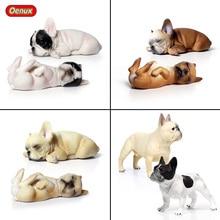 Oenux, clásico, lindo Bulldog Francés, animales de simulación, encantador cachorro, perro mascota, modelo de figuras de acción, figurita de juguetes de coleccionismo de PVC