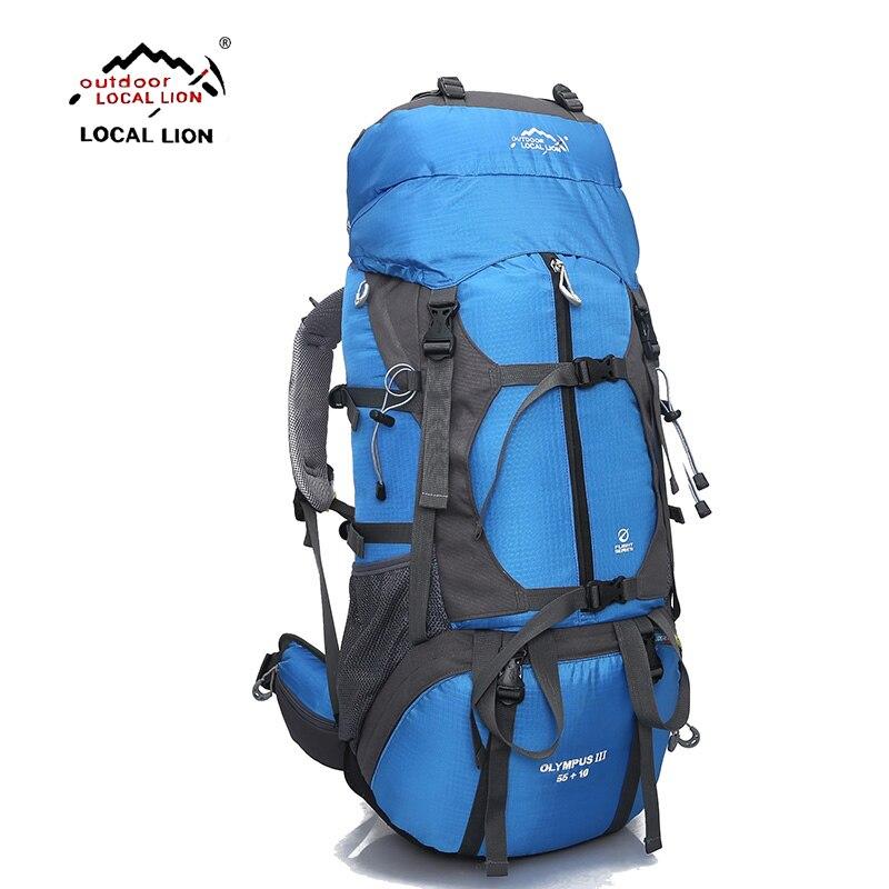 Mochila para exteriores LOCALLION, 65L, Mochila deportiva resistente al agua para exteriores, mochila para senderismo, mochila de viaje para acampar, mochila para escalar, senderismo