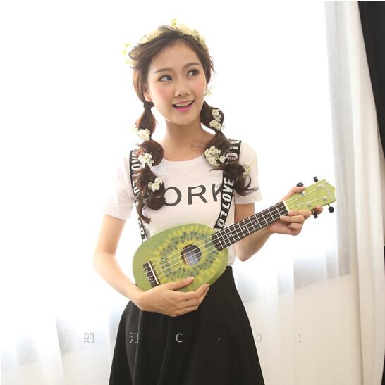 Longteam/Longting Hawaiano ukelele guitarra pequeña ukelele 21 pulgadas