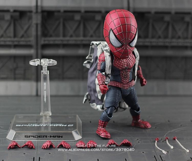 Disney Marvel Avengers spider 18cm Q version Action Figure Anime Mini Decoration PVC Collection Figurine Toy model gift