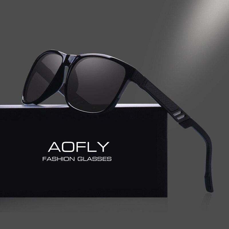 AOFLY BRAND DESIGN Classic Polarized Sunglasses Men Vintage Sun Glasses Male Square Driving Goggles UV400