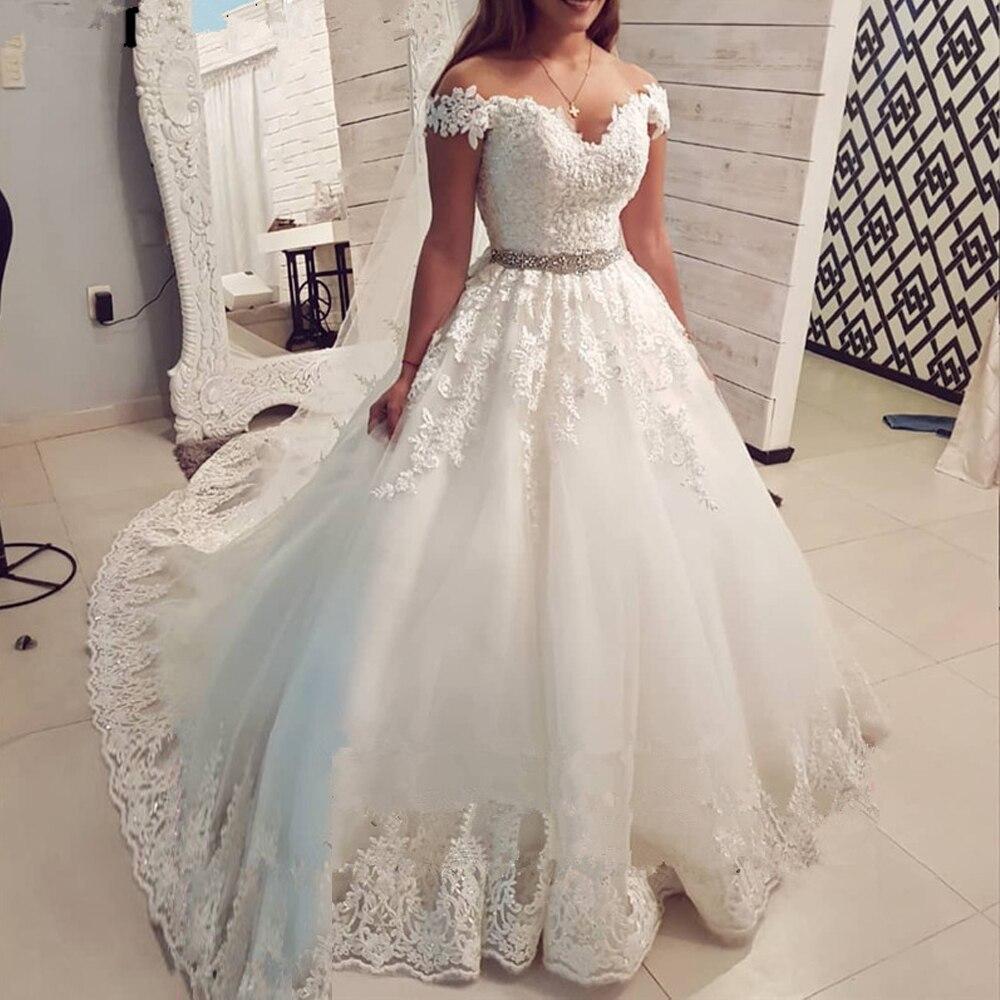 Arábia saudita fora do ombro do vintage vestido de noiva renda 2020 vestido de baile querida vestidos de noiva vestidos de noiva