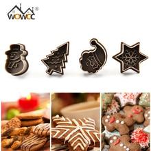 Tampon à biscuits de pâques arbre de noël   Bonhomme de neige en plastique, moule à biscuits, coupe-biscuits, plongeur à pâtisserie, outil de décoration de gâteaux