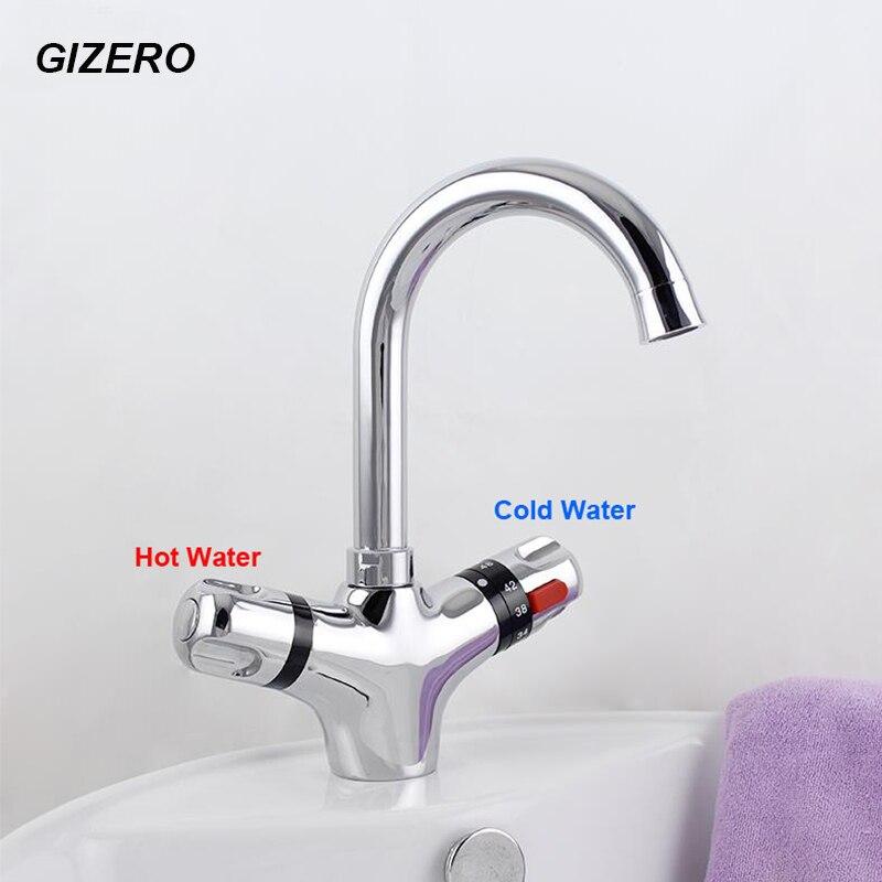 Термостатический кран GIZERO для ванной комнаты, кран с регулируемой температурой для раковины, кран torneira ZR982